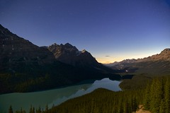 Peyto Lake Midnight Twilight (John Andersen (JPAndersen images)) Tags: mountains night twilight banff peytolake
