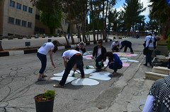 DSC_0032 (Al Ahliyya Amman University) Tags: street flowers students colors painting colorful university pretty time weekend president amman happiness jo jordan characters aau joyful       ccbysa  ahliyya          balqa      alsaro