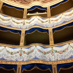 More than 300 years old theater 🎭 ✨ (sofiagiovannetti) Tags: details dettagli fuori vintage antico vecchio azzurro rosa santagata love follow like cute pink flowers teatro old theatre