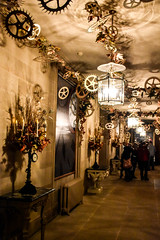 Clockwork (littlestschnauzer) Tags: chatsworth house corridor clockwork nutcracker themed theme christmas decor decoration 2016 december uk derbyshire cogs light visit tourist attraction atmospheric