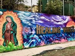 Healing Vibes (Echo_29) Tags: virginmary healingvibes mural streetart montecitoheights