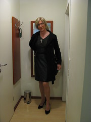 IMG_3069 (magda-liebe) Tags: crossdresser leather french highheels outgoing cuir tgirl stockings travesti skirt