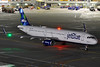 N968JT (Rich Snyder--Jetarazzi Photography) Tags: jetblueairways jetblue jbu b6 airbus a321 a321200 a321231 n968jt mintforeachother pushback startup departure departing sanfranciscointernationalairport sfo ksfo millbrae california ca airplane airliner aircraft jet plane jetliner ramptowera rcta atower dark night lights