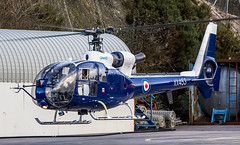 XX453 Aerospatiale SA341B Gazelle AH.1 @ Castle Air Charter Ltd, Liskeard, Cornwall. (Sw Aviation) Tags: liskeard trebrown heliport helicopter helipad airport airfield aviation airplane avgeek cornwall horningtops hessenford xx453 aerospatiale sa341b gazelle ah1 castle air charter ltd