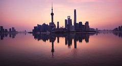 The Bund (jsvamm) Tags: ifttt 500px shanghai peoples republic china huangpu district asia architecture sky blue water pudong puxi dawn sunrise pink purple river ladscape still