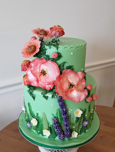 Spring Sugar Flowers Cake