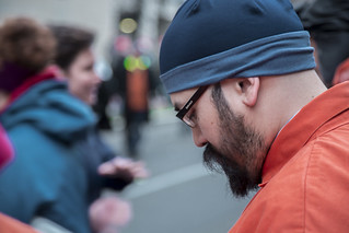 Marc Alvarado Participates in an Anti-Torture Demonstration Outside the Presidential Inauguration of Donald Trump
