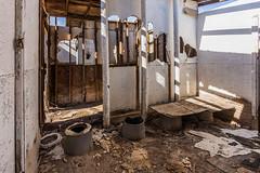 Abandoned pit toilets. (slworking2) Tags: nilandmarina niland saltonsea urbex urbanexploration decay abandoned lake desert california toilet loo bathroom kybo