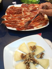 Bellota ham, cheese and nuts!