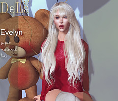 """=DeLa*= new hair """"Evelyn"""" (=DeLa*=) Tags: dela hair fitted mesh materials secondlife secondlifefashion tres chic sl slhair style"""