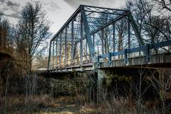 Cascade Road Bridge (myoldpostcards) Tags: rural country landscape weathered truss bridge cascaderoadbridge cascade road rd southfork sangamonriver sangamoncounty centralillinois illinois myoldpostcards vonliski season winter shadows