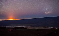 Volcano & Large Magellanic Cloud (geekyrocketguy) Tags: lmc largemagellaniccloud galaxy dwarf satellite halemaumau volcano volcanoes nationalpark saddleroad maunakea maunaloa samyang rokinon hawaii hi bower 50 50mm f14