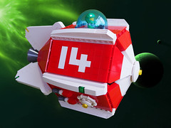 Red Rocket 14 (David Roberts 01341) Tags: lego spaceship space scifi minfigure redrocket fallout4 cargo