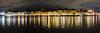 Gamlastahn at Night (mephistofales) Tags: sweden gamlastahn stockholm panorama longexposure nightphotography reflection water scandinavia oldcity