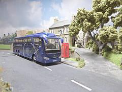 Heading For A Day Excursion. (ManOfYorkshire) Tags: triaxle scania irizar pb irizarpb coach bus scale model oxforddiecast diecast wilfredabeehive yt60yyk