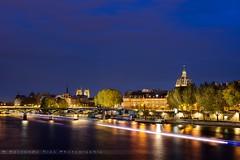 Paris- Île de la cité (Fernando 75) Tags: bluehour heurebleu paris nikond800 france seine ile island notredame cathedrale light city pontdesarts river tourism cityscape europe 2470