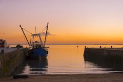 B is for... (AdaMoorePhotography) Tags: sun boat nikon d7200 sea seaside leigh fishing vessel sunset fishingboat sunlight orange red seawall sand beach tire 18105mm leighonsea winter