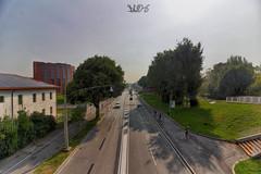 Via Venezia dalla Passerella pedonale d'accesso al Parco Europa (Davide Anselmi) Tags: hdr padova paesaggio passerella pedonale strada verde viavenezia davideanselmi 2016 parcoeuropa