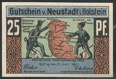 Neustadt in Holstein -  2/8 (NoeCR) Tags: notgeld alemania germany neustadtinholstein papelmoneda notafilia worldpapermoney emergencymoney dinerodeemergencia