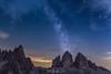"""reach for the stars"" (nelly_tran_photography) Tags: tre cime di lavaredo italy drei zinnen italien nikon d610 milkyway"