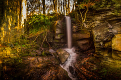 The only thing I can hear is the sound of falling water. (Ian Emerson) Tags: derbyshire matlock lumsdale waterfall water rocks mill outdoor landscape longexposure hoya ndx400 omot trees moss leaves greenery shrubs building brickwork morning winter