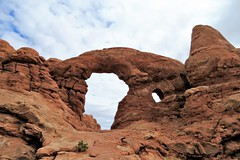 Turret Arch from the Back (Patricia Henschen) Tags: windowssection windows section turret arch turretarch clouds archesnationalpark arches nationalpark moab utah winter