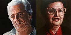 Portrait of my parents (carlos cubeiro, illustration, graphic design) Tags: pintura ilustración retrato realista figurativo pareja
