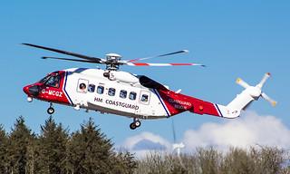 G-MCGZ HM Coastguard Sikorsky S-92 @ Cornwall Airport Newquay, St Mawgan.