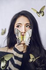 --- NAIVE --- (Mushu Photography) Tags: mushu sel1650 sony nex6 portrait girl naive butterfly vietnamese hoamoclan makeup hoamoclanmakeup