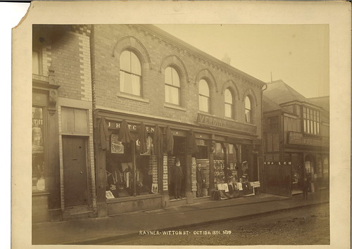 John Hitchens, tailor, 16 Witton Street & William Verdin, general draper, 14 Witton Street - 1891