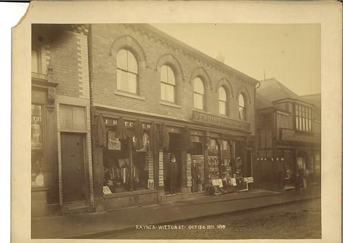 John Hitchens, tailor, 16 Witton Street & William Verdin, general draper, 14 Witton Street - 1891
