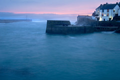 Evening at Porthleven Harbour (David Canon) Tags: harbour porthleven coast sea