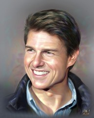 Tom Cruise (artist - David Tercias) (KlaatuCarpenter) Tags: artwork portrait tomcruise davidtercias