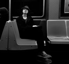 Alan (ShelSerkin) Tags: shotoniphone hipstamatic iphone iphoneography squareformat mobilephotography streetphotography candid portrait street nyc newyork newyorkcity gothamist blackandwhite