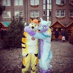 Just me and my cute tiger ^-^ #feng #fluffy #furry #furryfandom #love (Keenora Fluffball) Tags: keenora fursuit furry kee