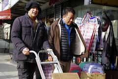 Chinatown (Worker and Shopkeeper?) (sjnnyny) Tags: chinese labor workers streetlife nyc manhattan locals neighbourhood shopkeepers stevenj sjnnyny pentaxk3ii pentaxsmcda1650f28 chinatownmanhattan candid streetphotoincolor