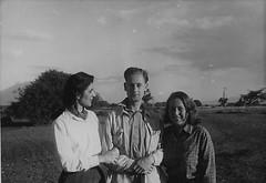Angela Tom  and Samiha Northup Ethiopia 1952 (Bury Gardener) Tags: ethiopia africa 1950s 1952 oldies old bw blackandwhite snaps