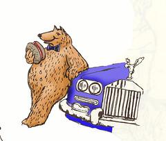 Bear and Rolls (Robin Hutton) Tags: bear rools royce car beef burger robinhuttonart