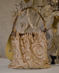 rumpelstilskin bag5 (Danny W. Mansmith) Tags: wwwdannymansmithetsycom handmadebag rumpelstilskin wearableart fiberart sewing gold yellow oneofakind functional drawingwiththesewingmachine dannymansmith burienwashington pockets