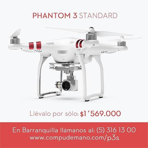 Adquiere en @compudemano drone DJI Phantom 3 Standard con envío gratis a todo Colombia. Ideal para comenzar a disfrutar la emoción de volar de forma fácil y divertida #cadadiamejor. Visita nuestra tienda o llámanos Bogotá: (1) 381 9922 - Medellín: (4) 204