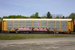 Reser Qwit (BombTrains) Tags: road railroad art train bench graffiti paint tag graf rail spray etc graff cp freight autorack fr8 reser 2013 benching qwit 556285
