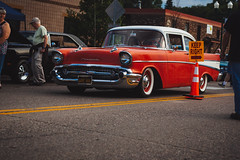 Chevrolet Bel Air (Garret Voight) Tags: show street old hot classic chevrolet belair car minnesota vintage outdoors automobile muscle antique automotive retro 1940s chrome american 1950s vehicle rod modified 1960s 1970s custom saintpaul mn lowered stance historycruzer