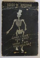 THE MORGUE FRESNO CALIF (REAR) (ussiwojima) Tags: california bar advertising lounge cocktail fresno morgue matchbook themorgue matchcover