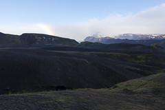 Blick von der Berghütte Botnar - Laugavegur - Trekking auf Island