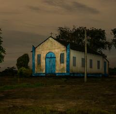 Igreja no Rio Mamuru, na comunidade Sabina, Pará, Brasil