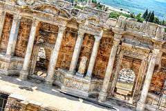Hierapolis (muratkotbas) Tags: city travel summer holiday hot turkey kent amazing antique trkiye turkiye travertine pamukkale yaz antik denizli hierapolis tatil turkei 2015 hiera