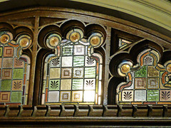 Stained glass panels (mark.griffin52) Tags: england detail glass architecture buckinghamshire stainedglass coloured bletchleypark doorpanel