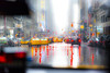 RainyDay (wesbs) Tags: nyc newyorkcity trafficlights color rain reflections traffic taxi taxis rainy cabs taillights taxicabs wetroad hss sliderssunday