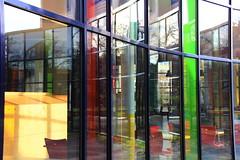 glass (Rasande Tyskar) Tags: color reflection building glass cafe colours fenster hamburg uni farbe spiegelung gebude bunt fenetre farben philosophenturm universtitt