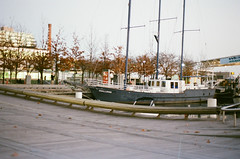 Challenge (ericaparsnip) Tags: toronto canada film analog outdoors boat nikon lakeshore